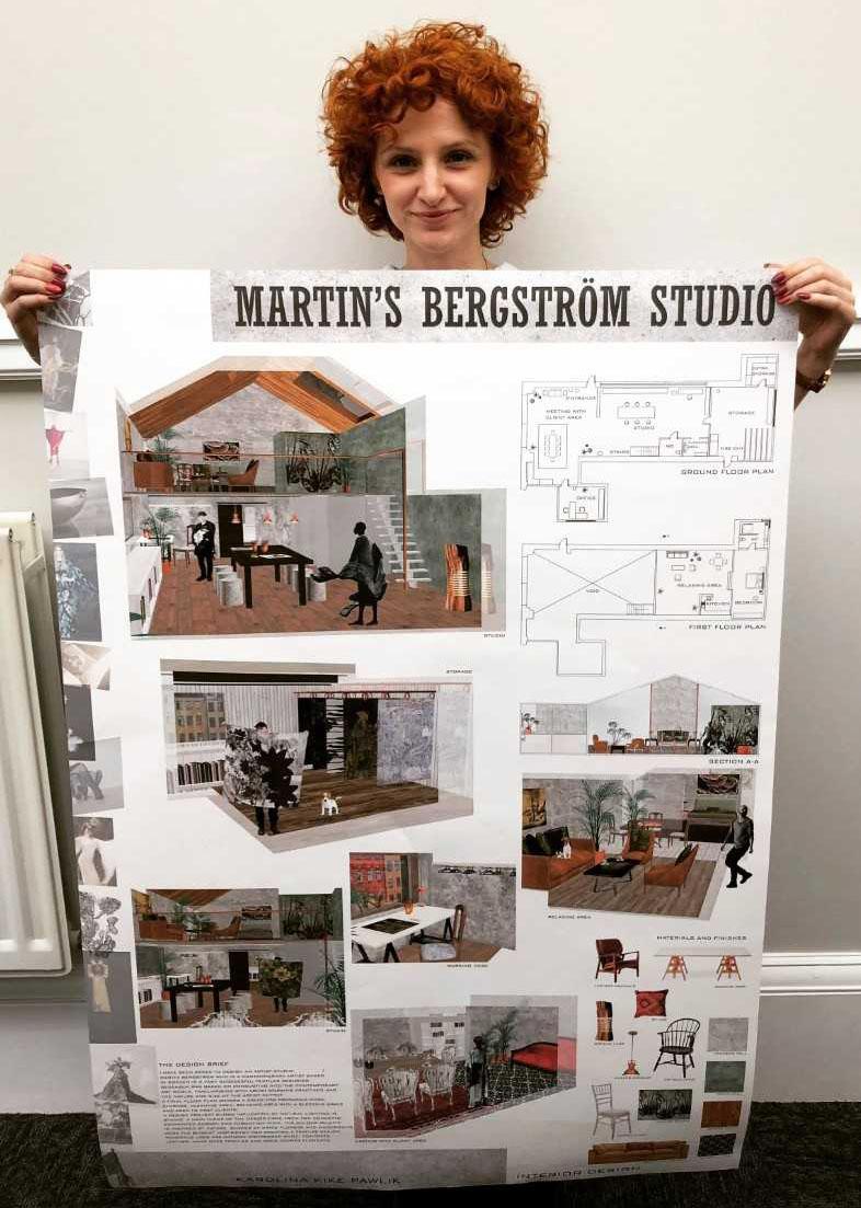 Swedish Artist Mentors Hnd Interior Design Student From 1377 Miles Away West College Scotland